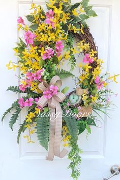 Excited to share the latest addition to my #etsy shop: Spring Wreath, Bird Front Door Wreath- Forsythia Wreath- Bird Wreath-Grapevine Door Wreath- Dogwood Wreath- Sassy Doors Wreath