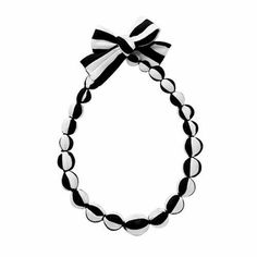 Marimekko Black/White Satu Necklace