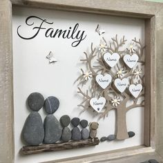 Pebble Art Family Tree pictures, with any wording added to personalise your unique gift Pebble Art Family Tree pictures with any wording added to image 2 Stone Crafts, Rock Crafts, Diy Crafts, Dog Lover Gifts, Dog Gifts, Family Tree With Pictures, Pebble Art Family, Adoption Gifts, Picture Design