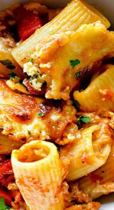 Baked Sausage and Cheese Rigatoni