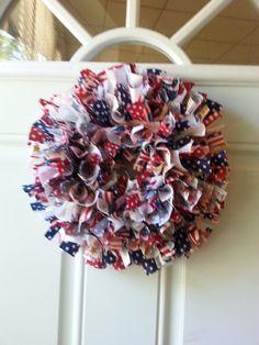 6 Star Spangled Banner Cloth Wreath by WreathClothsbyDee on Etsy, $11.00
