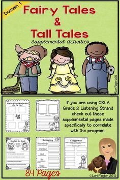 A must have for anyone using CKLA Grade 2 Fairy Tales and Tall Tales!