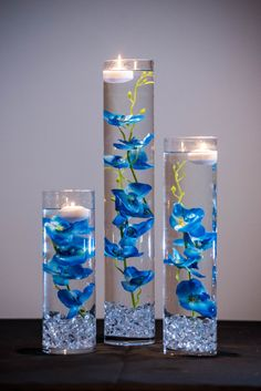 Submersible Blue Orchids Floral Wedding by Featherology2 on Etsy