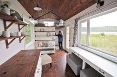 THIS is my house! Hands down! Add a two person loft above the kitchen and it fits my whole family!!! Now off to find the property to put it on! Ana White Tiny House