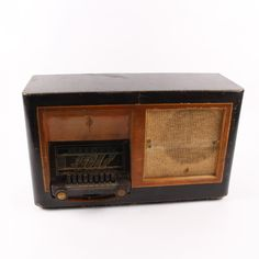 Historické lampové rádio 60x37 cm Antique Radio, Marshall Speaker, Retro, Antiques, Antiquities, Antique, Retro Illustration, Mid Century