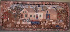 Farm House Rug, wool and cotton, ca. 1949, Marblehead Mass.