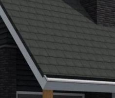 platte zwarte dakpannen
