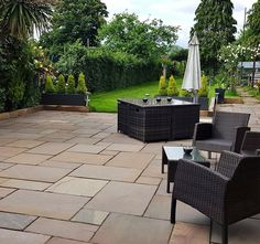 Autumn Brown Sandstone Paving is a household favourite. Featuring a simple blend of brown, buff and grey tones making it a versatile paving solution. Sandstone Paving Slabs, Paving Stone Patio, Slate Paving, Granite Paving, Outdoor Paving, Patio Slabs, Garden Paving, Paving Stones, Patio Kits