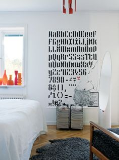 A BIG graphic alphabet poster, almost like a wallpaper- like it!