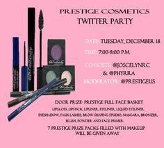 @PrestigeUS Prestige Cosmetics Twitter Party #PrestigeBeauty