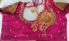 Wedding Saree Blouse Designs, Silk Saree Blouse Designs, Maggam Work Designs, Jewelry Design Drawing, Blouse Back Neck Designs, Designer Blouse Patterns, Blouse Models, Blushes, Siri
