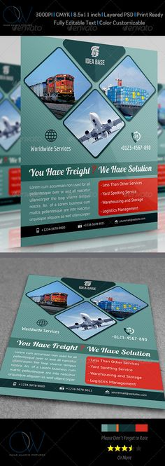 Freight / Shipment Services Flyer — Photoshop PSD #profit #corporate • Available here → https://graphicriver.net/item/freight-shipment-services-flyer/3825230?ref=pxcr
