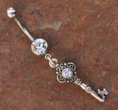 Blingin Ornate Key DeSIGNeR Belly Button Ring Simple by chuckhljal, $23.00