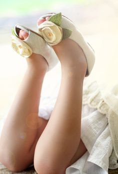 Please, God, let me have at least one daughter so I can adorn her little feet in shoes like these.