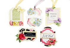 HSN October 5th, 2016 Sneak Peek 7 | Anna's Blog - Terrific Tags, Dies and Stamps set; 128 printed card stock tags in 4 different shapes, 12 concentric tag dies to create your own tags (or layer these new ones) and 20 clear stamps to create your own tag sentiments