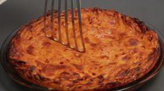 Adam Richman's Spaghetti Pie