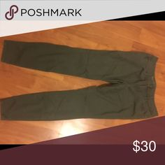 The Limited Brushed Denim Jeans, Olive Green The Limited Brushed Denim Jeans, Olive Green. Size 6R. The Limited Pants Straight Leg