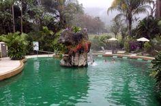 paradise hotsprings main pool waterfall - Costa Rica
