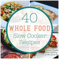 This collection of whole ingredient slow cooker recipes is fantastic!