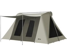 Kodiak 6041 Flex Bow VX canvas tent + ground tarp, same quality features found on the deluxe with large end windows for more ventillation. Diy Camping, Tent Camping, Camping Gear, Camping Hacks, Camping Storage, Motorcycle Camping, Rv Hacks, Camping Supplies, Camping Stuff