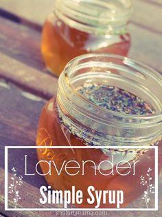 Homemade lavender simple syrup. Soooo good in coffee!
