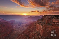 Cape Royal Viewpoint at Sunset, North Rim, Grand Canyon Nat'l Park, UNESCO Site, Arizona, USA Photographic Print by Neale Clark at Art.com