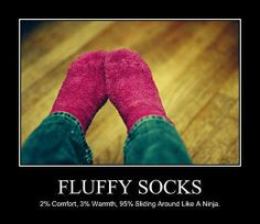 Why I love fluffy socks.