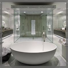Large tub with an even larger His & Hers shower Via IG @jelenannday_realtor #InteriorDesign #DecorativeHardware #HomeDecor #DIY #Remodel #RealEstate #Architecture #InstaHome #LuxuryHomes #Kitchen #HomeIdeas #HomeStyling #HomeRenovation #HomeDesign #HomeInspiration #DreamHome #ArchiLovers #BathroomDesign #BathroomRemodel #NewShower #ModernHome #NewConstruction