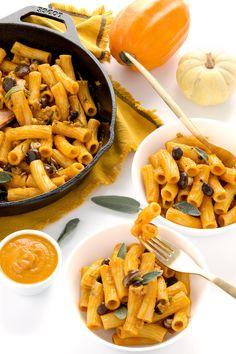Vegan Mac & cheese #pumpkin #mushrooms #glutenfree / pasta mac & cheese #vegan senza glutine alla zucca