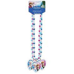 Disney Frozen Bead Necklace Party Favors, 3ct Unique…