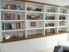 Portfolio - The Alcove Man Living Room Wall Units, Living Room Shelves, Living Room Storage, Home Living Room, Interior Design Living Room, Living Room Decor, Library Bookshelves, Bookcase Wall, Built In Bookcase