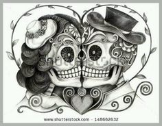 female sugar skull tattoo - Google Search
