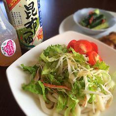 ぶたの生姜焼き*キュウリの梅おかかあえ - 48件のもぐもぐ - サラダうどん by keyof8xxx7
