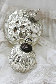 Would love to do a small Christmas tree in silver and lace.