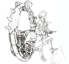 Monowheel Scout by LoperaCano, via Behance Behance, World, Image, Art, Art Background, Kunst, The World, Art Education, Earth