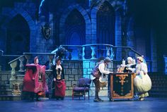 Maybe a castle stage set, with H2O LED light splashed along the front of the stage.