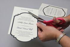 Free Printable Die Cut Wedding Invitation photo | The Budget Savvy Bride