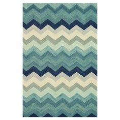 Wool rug with a chevron motif. Handmade in India.       Product: RugConstruction Material: 100% WoolC...