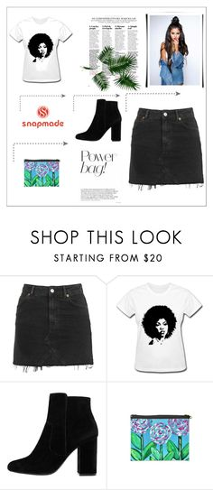 """""""Power Bag"""" by ajlakukic ❤ liked on Polyvore featuring Topshop and MANGO"""