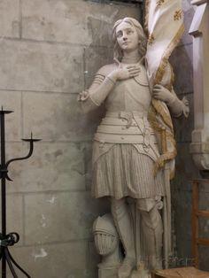 Statue of St. Joan of Arc, Dol Cathedral, Dol de Bretagne, Brittany, France Joan D Arc, Saint Joan Of Arc, St Joan, Jeanne D'arc, Catholic Saints, Patron Saints, Joan Of Arc Statue, Arm Armor, Women In History