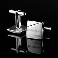 Personalized Classic Simple Square Silver Cufflin... – AUD $ 27.16 - GROOMS gift