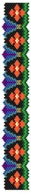 Persian Flowers Bracelet Pattern at Sova-Enterprises.com. Lots of free beading patterns and tutorials on this site!