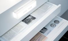 Timeline Drawers -great way to present archive info and keep it neat and tidy. Need one of the classroom trolleys so can remove drawers but have perspex cover