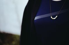 Say Cheese Louise — Six Month(ish) Update // Ethical Fashion I love... The four bar asymmetrical necklace in brass with one white pieces :)