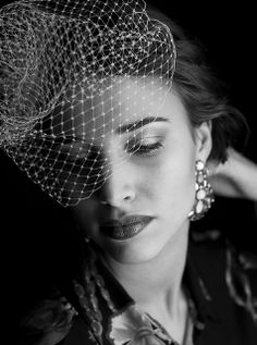 black and white photography. Beautiful headdress