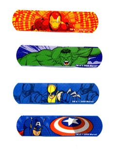 Bandaids are important to have on hand for everyone's cuts and scrapes. These superhero ones are awesome and fun for everybody