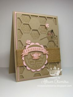 nice people STAMP!: From My Heart and Hexagon Hive Thinlits Card. (Pin#1: Hexagons... Pin+: Friends).