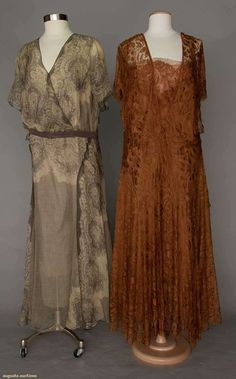Evening Gowns (image 1) | 1930s | lace, chiffon | Augusta Auctions | May 10, 2016/Lot 1060
