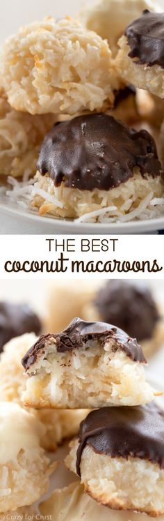 Omitting the eggs from these Coconut Macaroons makes them more dense and the perfect bakery style cookie!