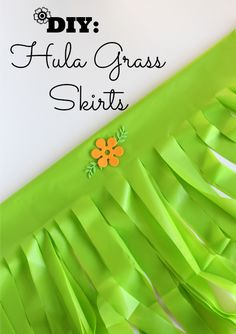 DIY Grass Skirts using plastic tablecloths